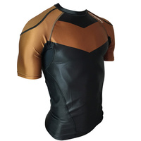 Hyperfly         Rank Rash Guard Brown Short Sleeve