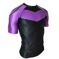 Hyperfly          Rank Rash Guard Purple Short Sleeve