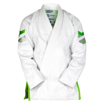 Kids    Hyperlyte BJJ Gi - White w/ Green
