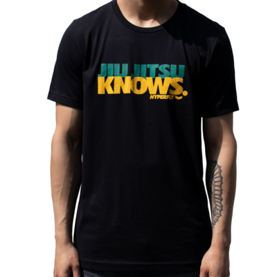 Hyperfly  Jiu Jitsu Knows Tee - Black