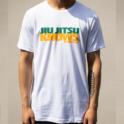 Hyperfly  Jiu Jitsu Knows Tee - White