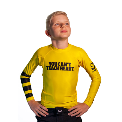 Kids Hyperfly YCTH.    Long Sleeve Yellow Rash Guard