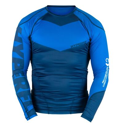 Hyperfly ProComp     Supreme Rank Rashguard - Blue Long Sleeve