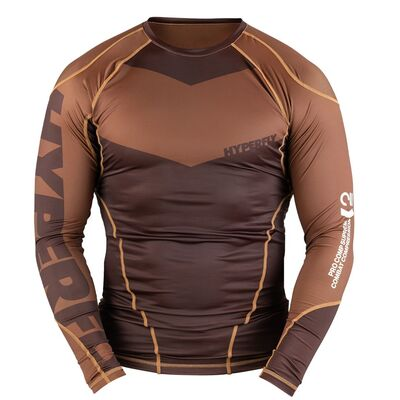 Hyperfly ProComp    Supreme Rank Rashguard - Brown Long Sleeve