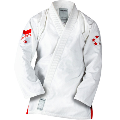 Kids      StarLyte BJJ Gi White w/ Red [Size: M5]