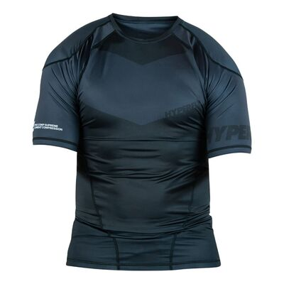 Hyperfly ProComp    Supreme Rank Rashguard - Black Short Sleeve