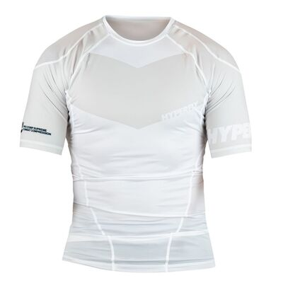 Hyperfly ProComp        Supreme Rank Rashguard - White Short Sleeve
