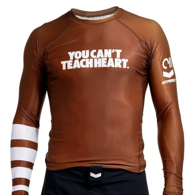 Hyperfly YCTH. Rank Rash  Guard Brown Long Sleeve