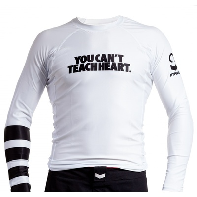 Hyperfly YCTH. Long Sleeve Rank Rash     Guard - White